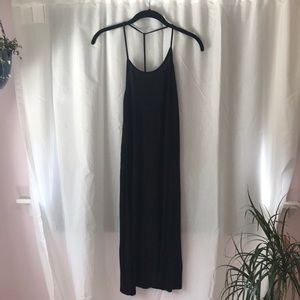 Soft, black t-strap summer dress, size M